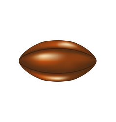 retro rugby ball in leather design vector image vector image