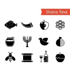 Rosh Hashanah Icons vector image vector image