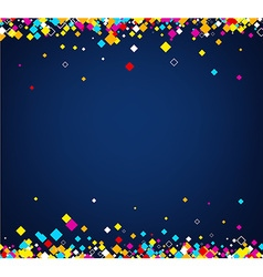 Background with colour rhombs vector image vector image