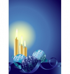 Christmas candles ornaments vector image vector image