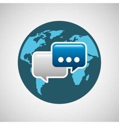concept globe chat speech social media vector image