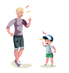 father is arguing with his son vector image