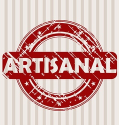 Grunge rubber stamp with ARTISANAL vector image