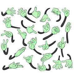 Hand signals vector image