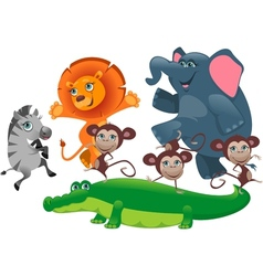 Party African animals vector image vector image
