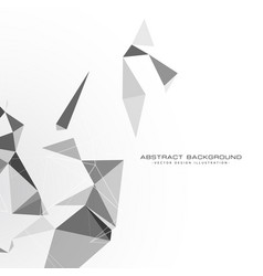 white background with triangle shapes vector image vector image