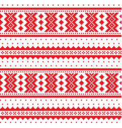 winter cross-stitch pattern sami art vector image