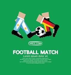 Football Match EPS10 vector image