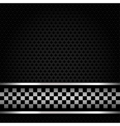 Structured metallic perforated vector image