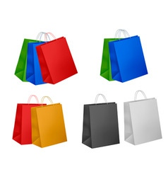 assorted colored shopping bags vector image vector image