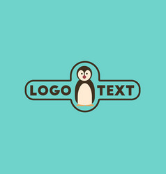 flat icon on background penguin logo vector image vector image