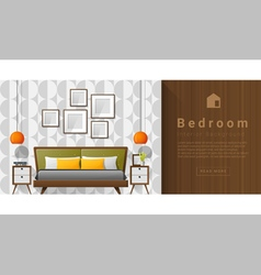 Interior design Modern bedroom background 5 vector image vector image