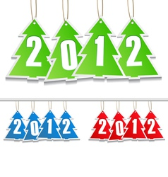 new year tags vector image vector image