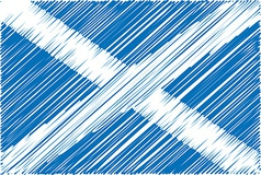 Scottish flag vector image