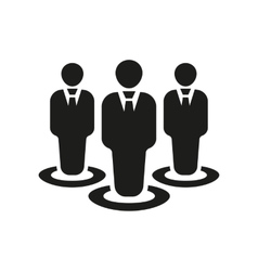 The management icon Team and group teamwork vector image