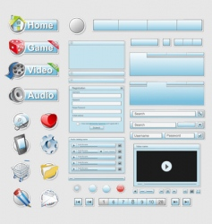 web interface set vector image vector image