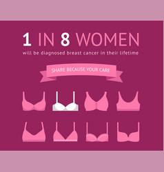 1 in 8 women concept poster vector image