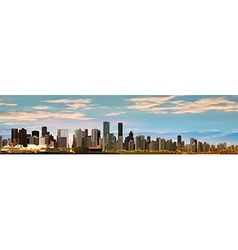 Abstract background with panorama of vancouver and vector