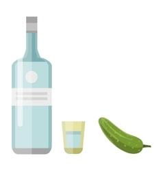 Alcohol drink bottle vector image