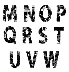 Alphabet Grunge Font Style Letters made from vector image