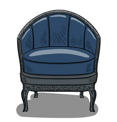 armchair in the style of art nouveau with dark vector image