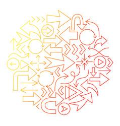 arrow line icon circle design vector image