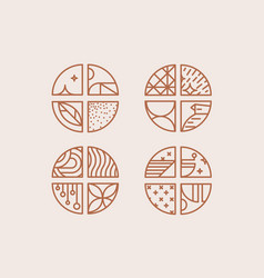 art deco coffee chevrons beige vector image