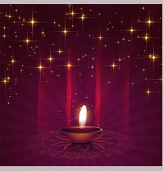 Beautiful diya background for diwali festival vector