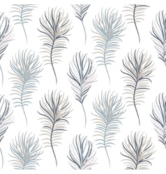 Bird pastel blue seamless pattern vector image