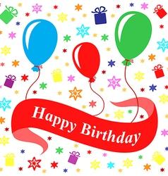 birthday multicolor vector image