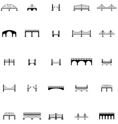 Bridge icon set vector