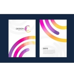 brochure template Abstract design and vector image