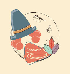 carnival clown hat accessory vector image