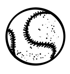 cartoon image of baseball ball vector image