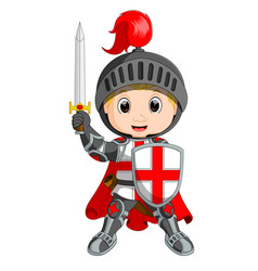 cartoon knight boy vector image