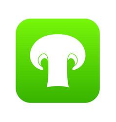 champignon mushroom icon digital green vector image
