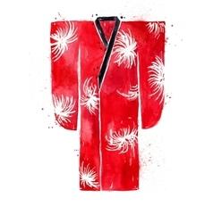 Chinese symbols kimono vector