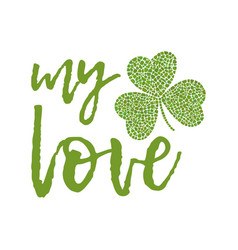 clover greeting card vector image
