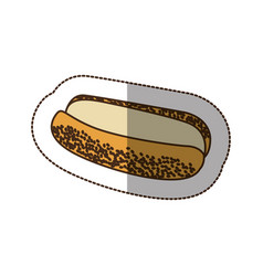 color hot dog bread icon vector image
