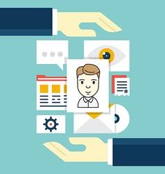 concept customer relationship management vector image
