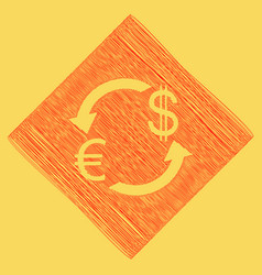 currency exchange sign euro and us dollar vector image