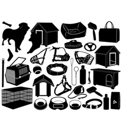 Different objects for dogs vector
