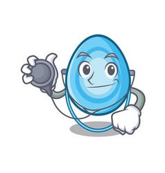 Doctor oxygen mask character cartoon vector