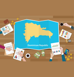 dominican republic economy country growth nation vector image