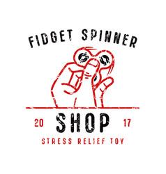 Emblem for fidget spinner shop vector