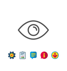 Eye line icon look or optical vision sign vector
