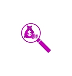 Finance analysis icon vector