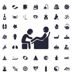 Foot massage icon vector