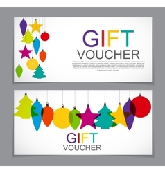 Gift Voucher Template for Christmas and New Year vector