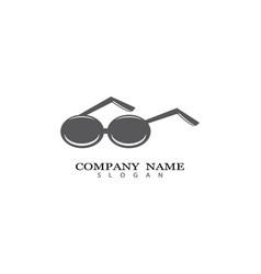 glasses symbol vector image